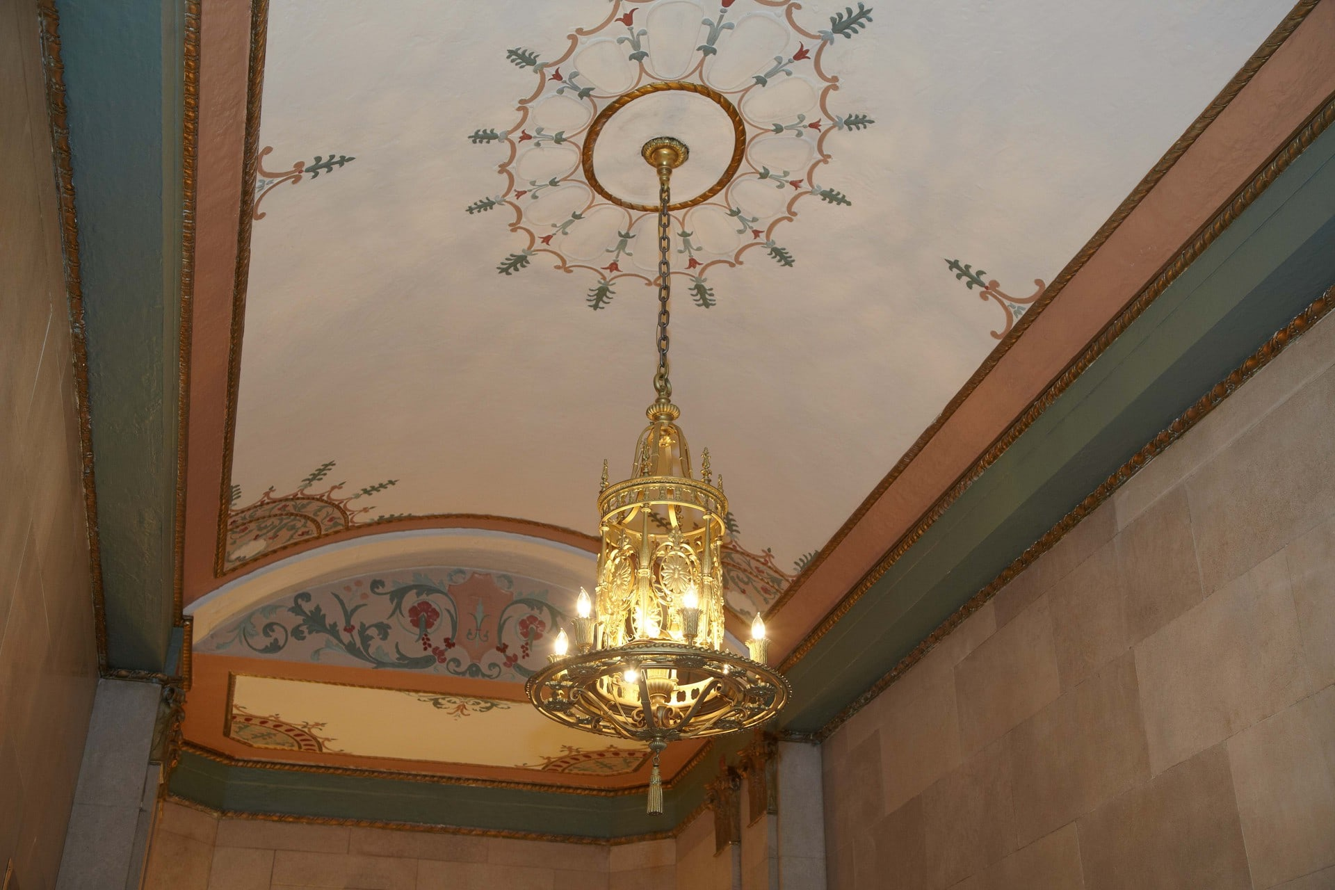 Detail of the Chandelier at The Union Building