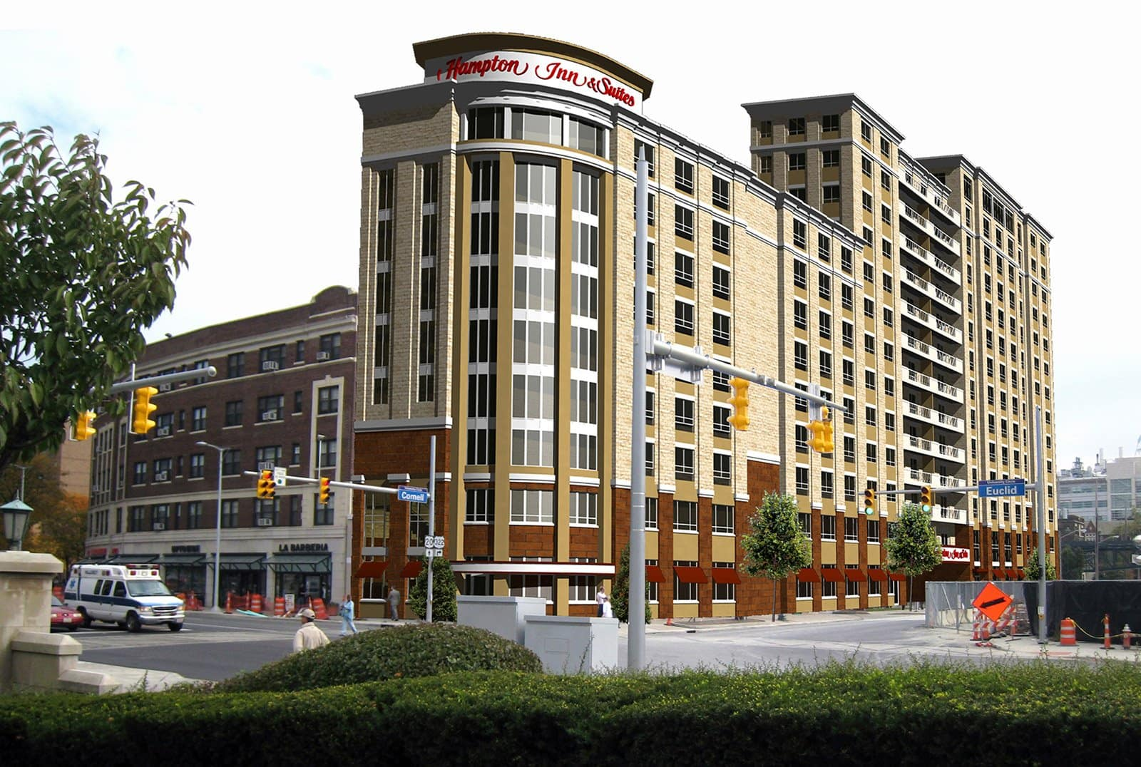 Hospitality Designers Arkinetics Hotels One University Circle Pool Panzica Construction Company