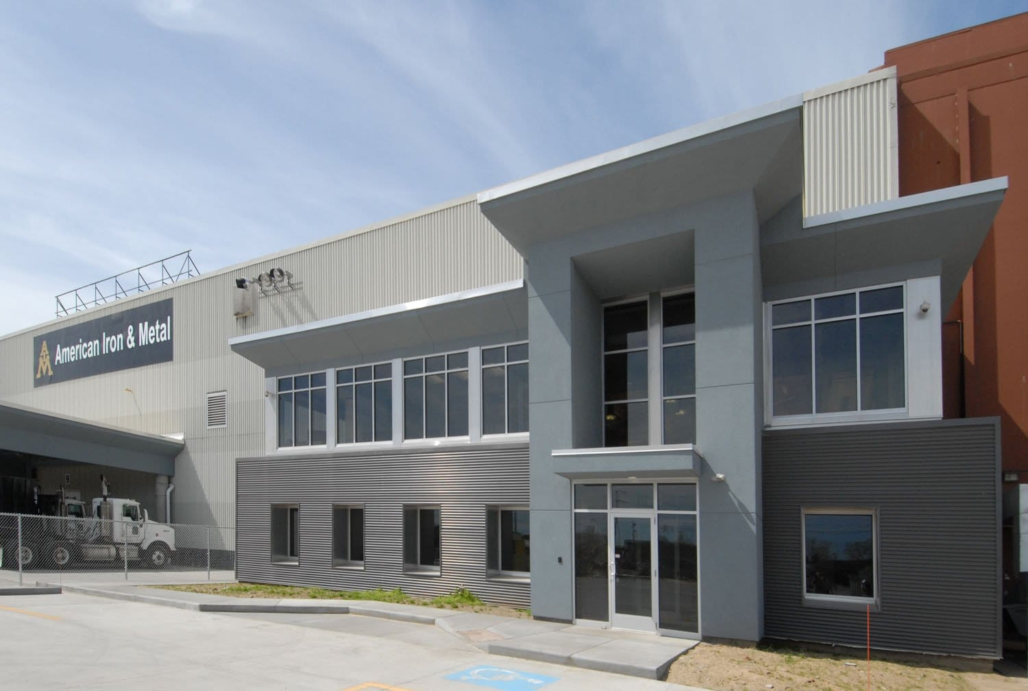 office exterior design. American Iron And Metal Contemporary Industrial Office Design Exterior