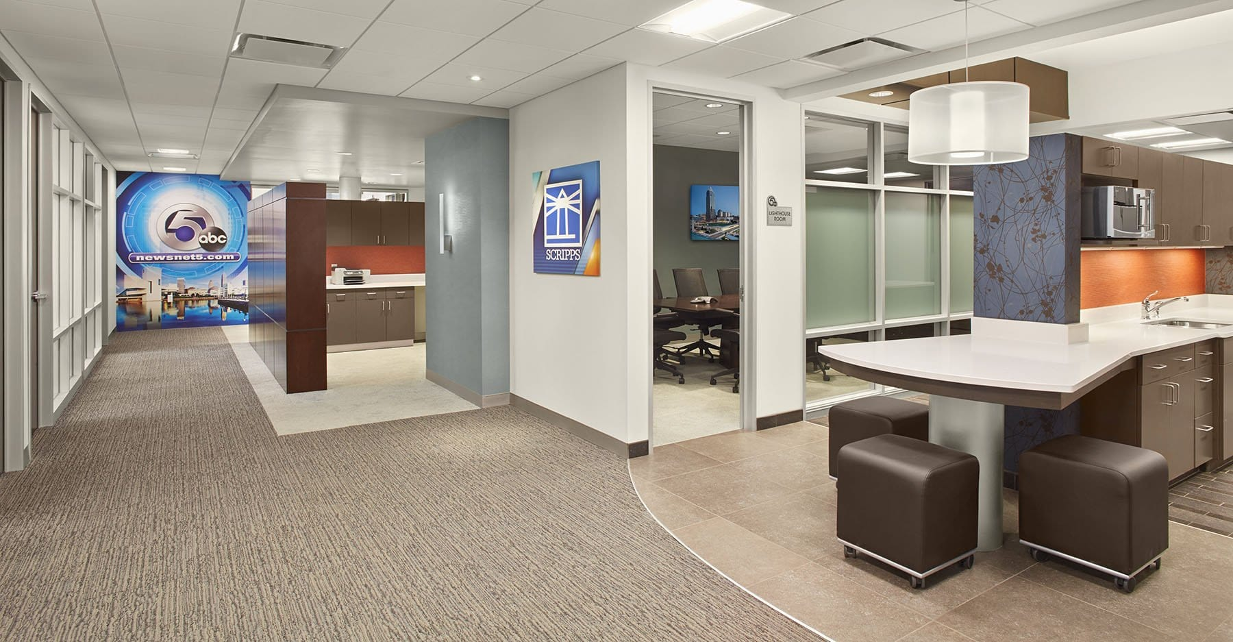 News channel 5 office renovation arkinetics for Newspaper articles on interior design