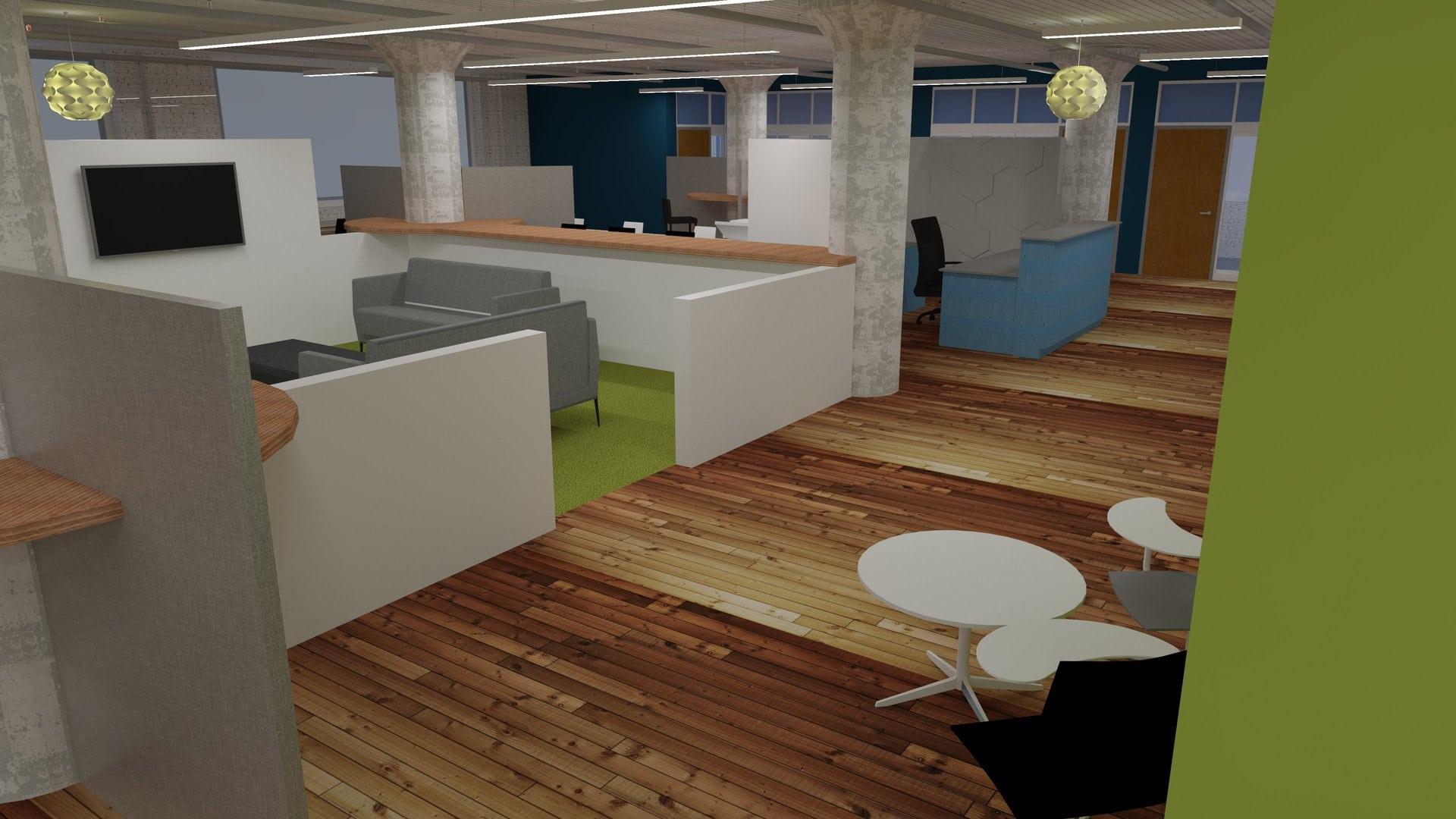 Design concept of coworking space
