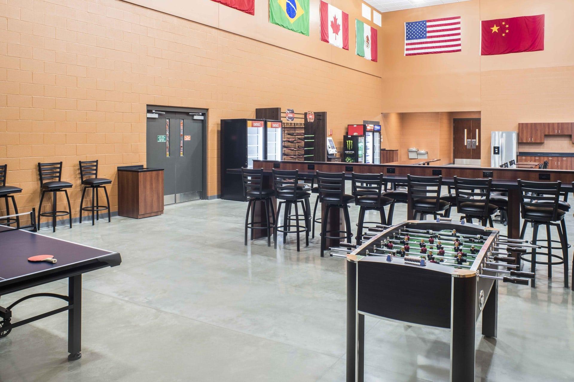 manufacturing break room